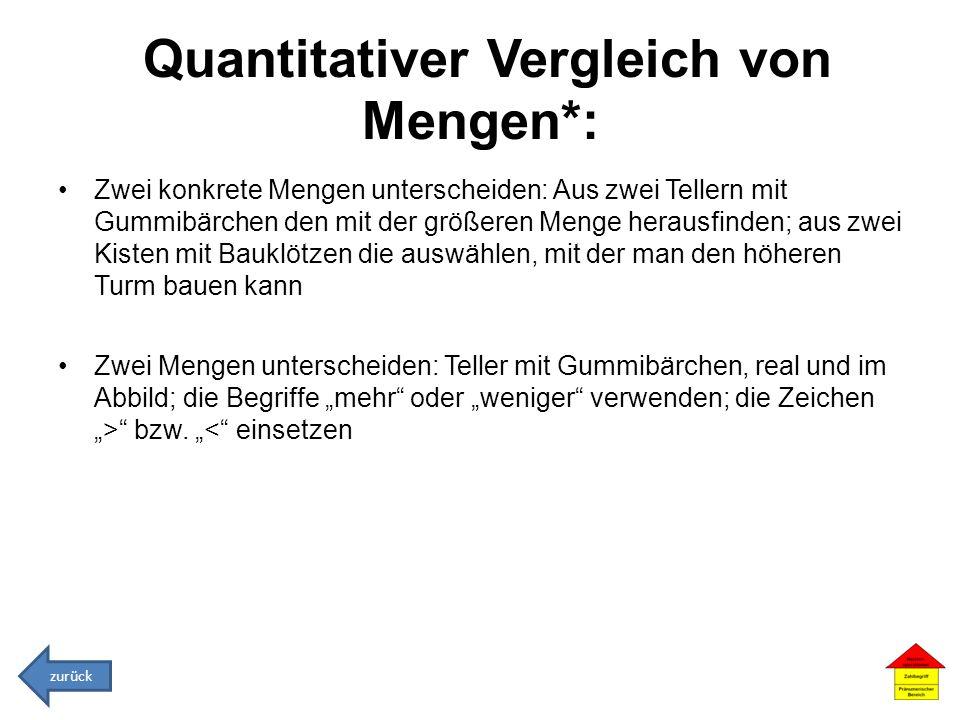 Quantitativer Vergleich von Mengen*: