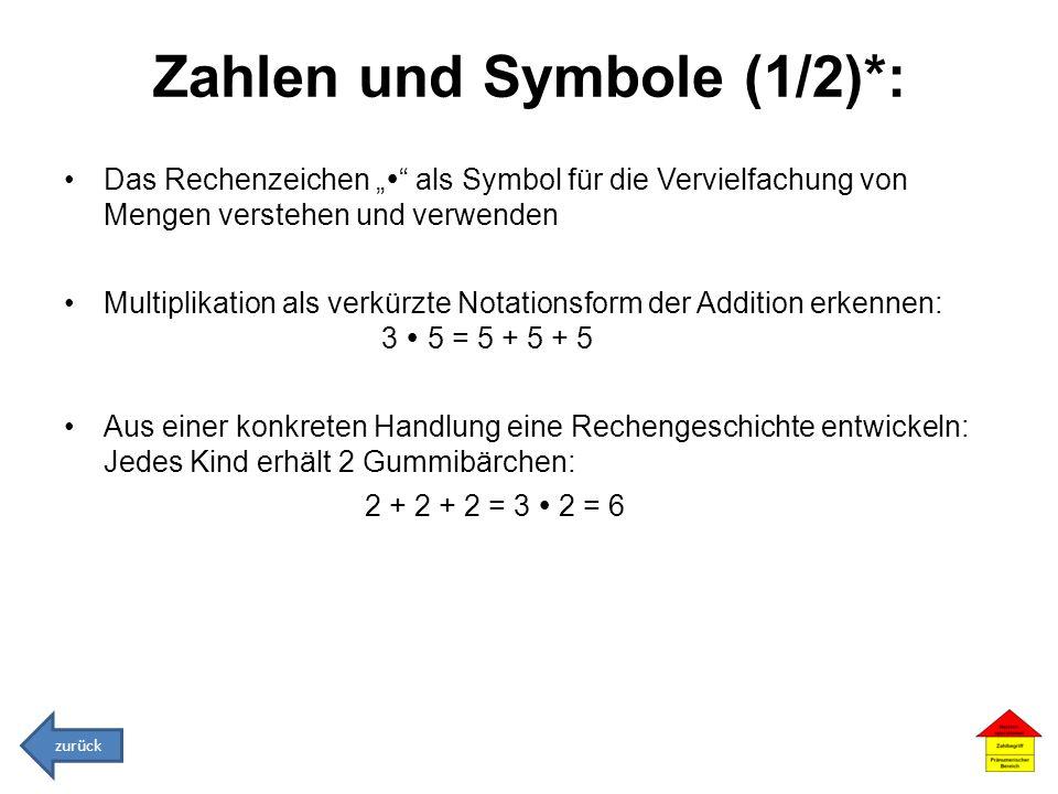 Zahlen und Symbole (1/2)*: