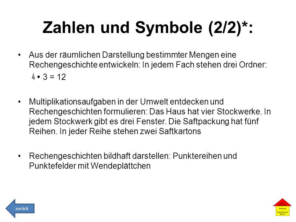 Zahlen und Symbole (2/2)*: