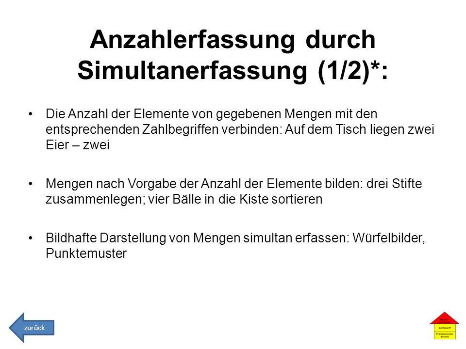 Anzahlerfassung durch Simultanerfassung (1/2)*: