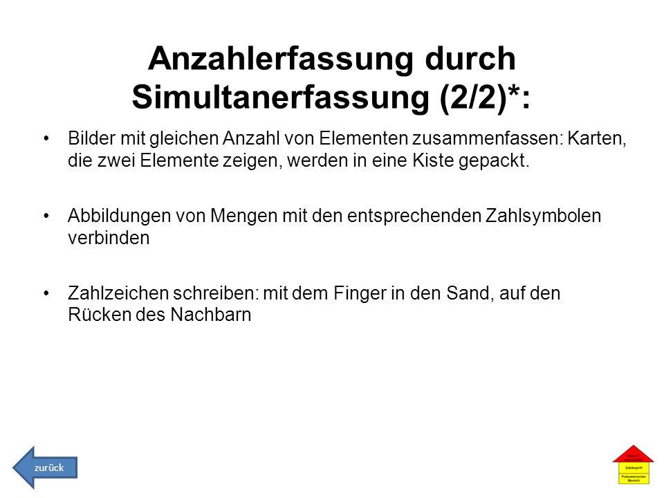 Anzahlerfassung durch Simultanerfassung (2/2)*: