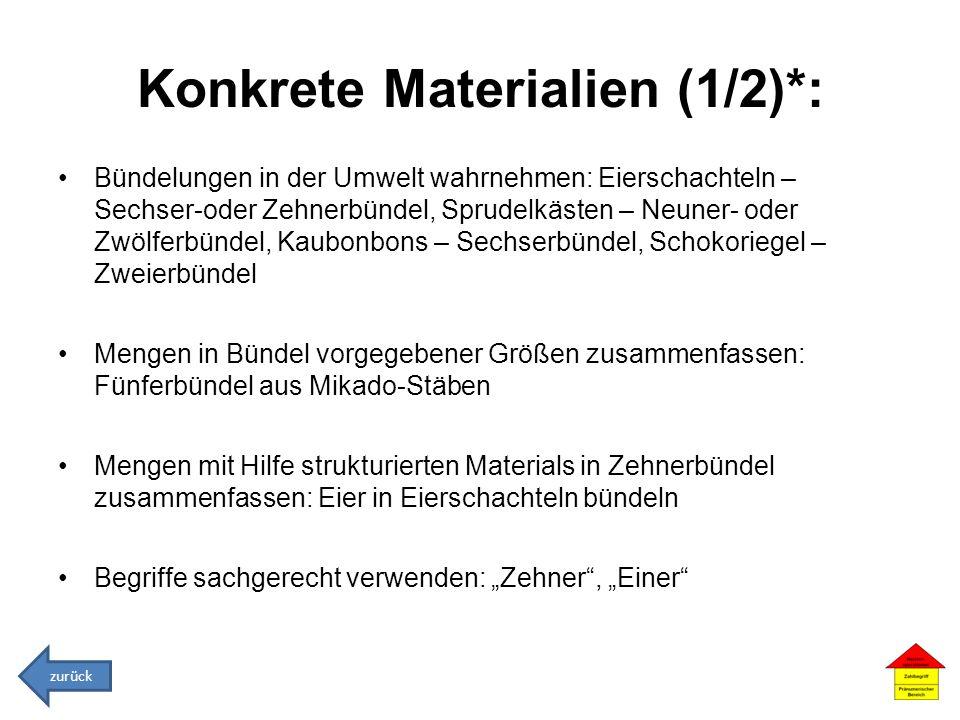 Konkrete Materialien (1/2)*: