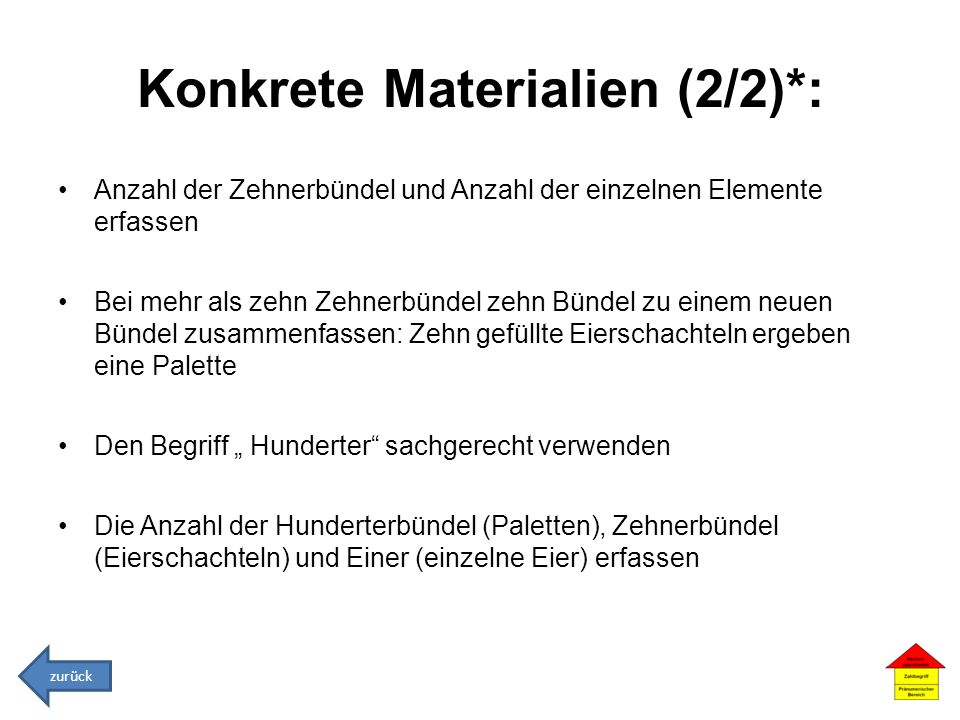Konkrete Materialien (2/2)*: