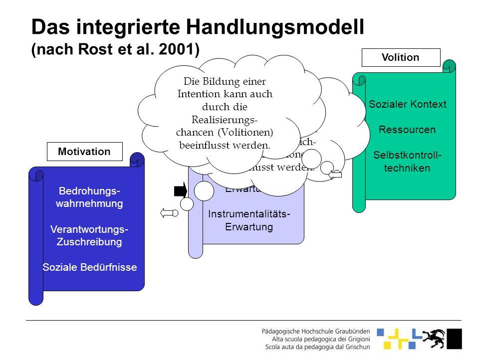 Das integrierte Handlungsmodell (nach Rost et al. 2001)