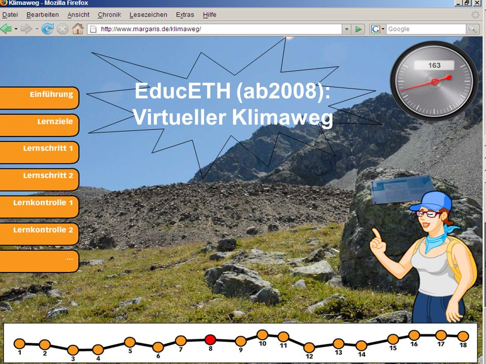 EducETH (ab2008): Virtueller Klimaweg