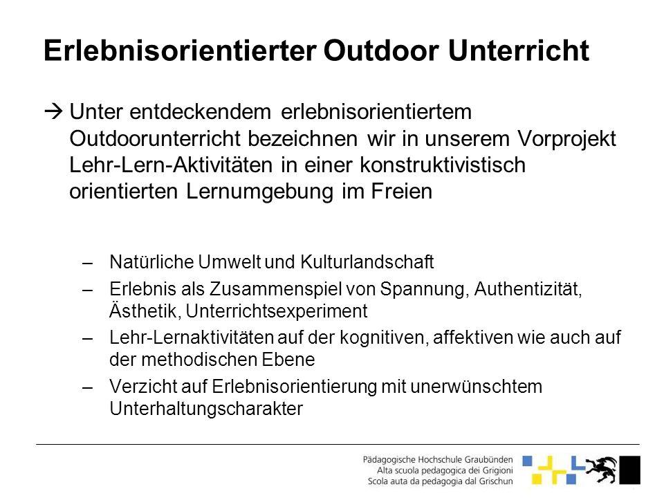 Erlebnisorientierter Outdoor Unterricht