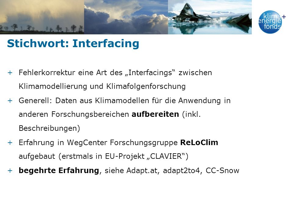 Stichwort: Interfacing