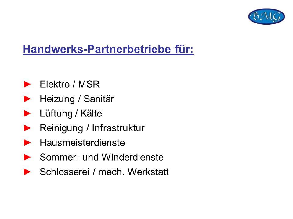 Handwerks-Partnerbetriebe für: