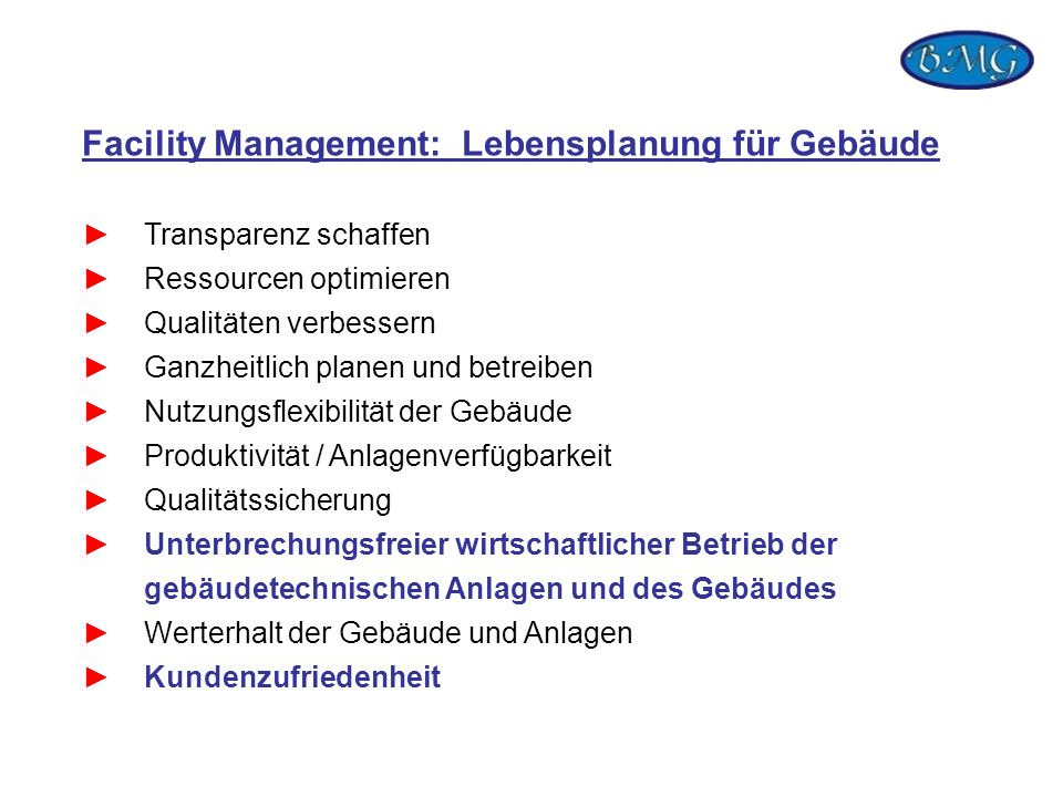 Facility Management: Lebensplanung für Gebäude