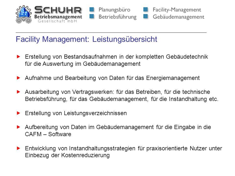 Facility Management: Leistungsübersicht