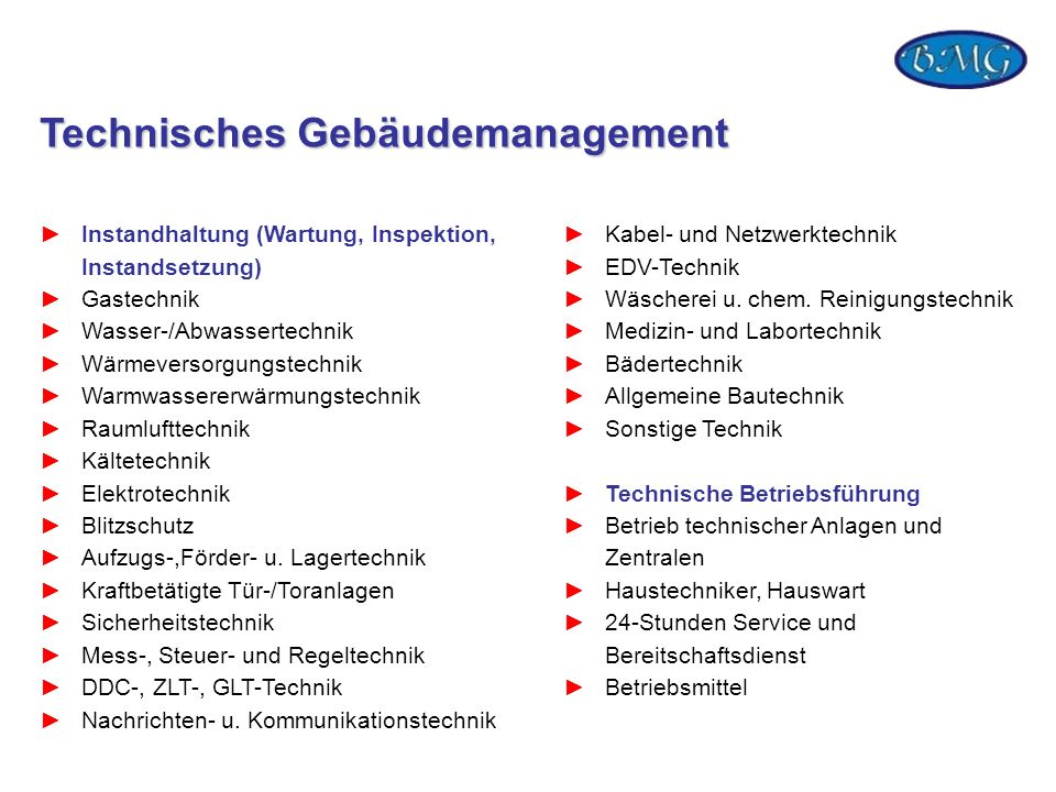 Technisches Gebäudemanagement