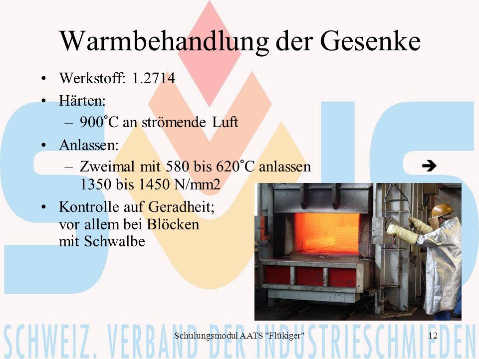 Warmbehandlung der Gesenke