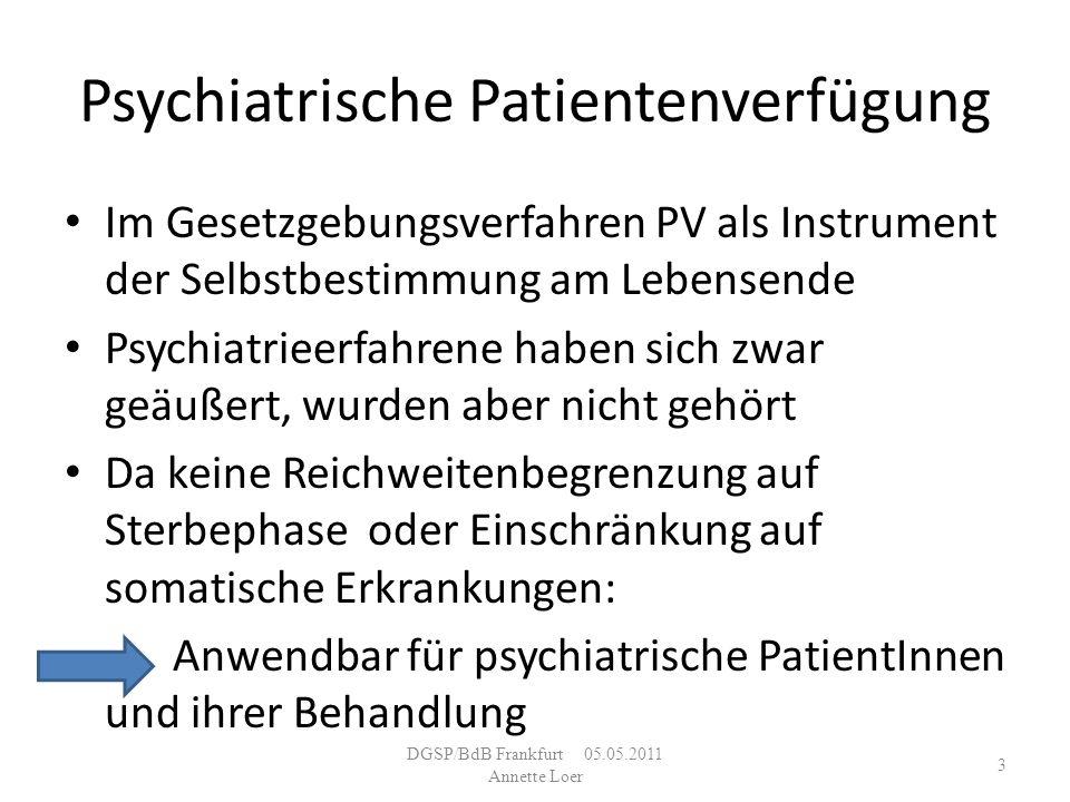 Psychiatrische Patientenverfügung