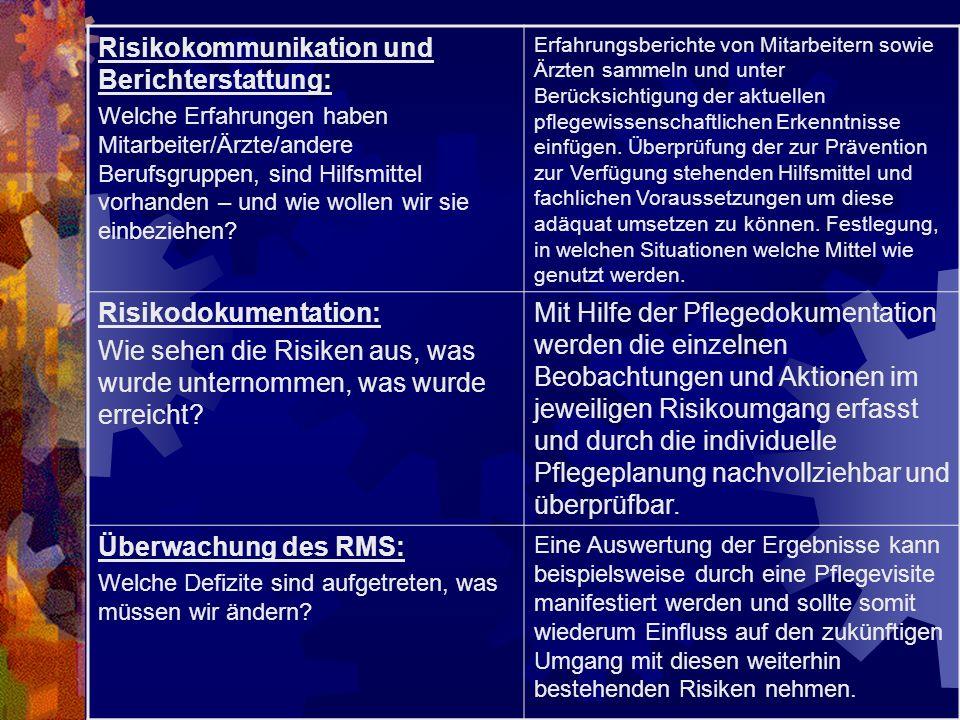Risikokommunikation und Berichterstattung: