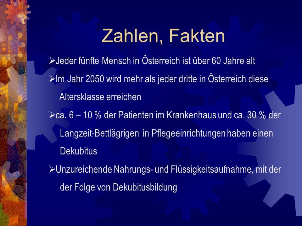 Zahlen, Fakten Jeder fünfte Mensch in Österreich ist über 60 Jahre alt