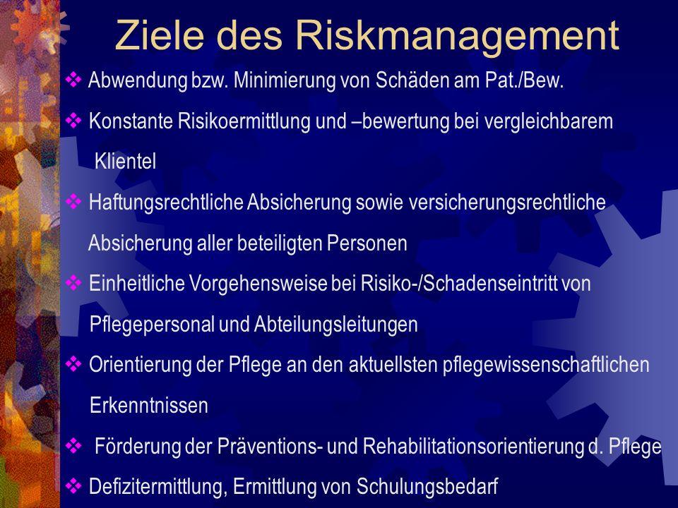 Ziele des Riskmanagement