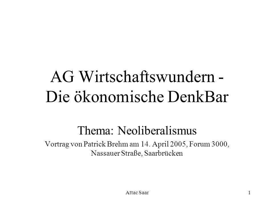 AG Wirtschaftswundern - Die ökonomische DenkBar
