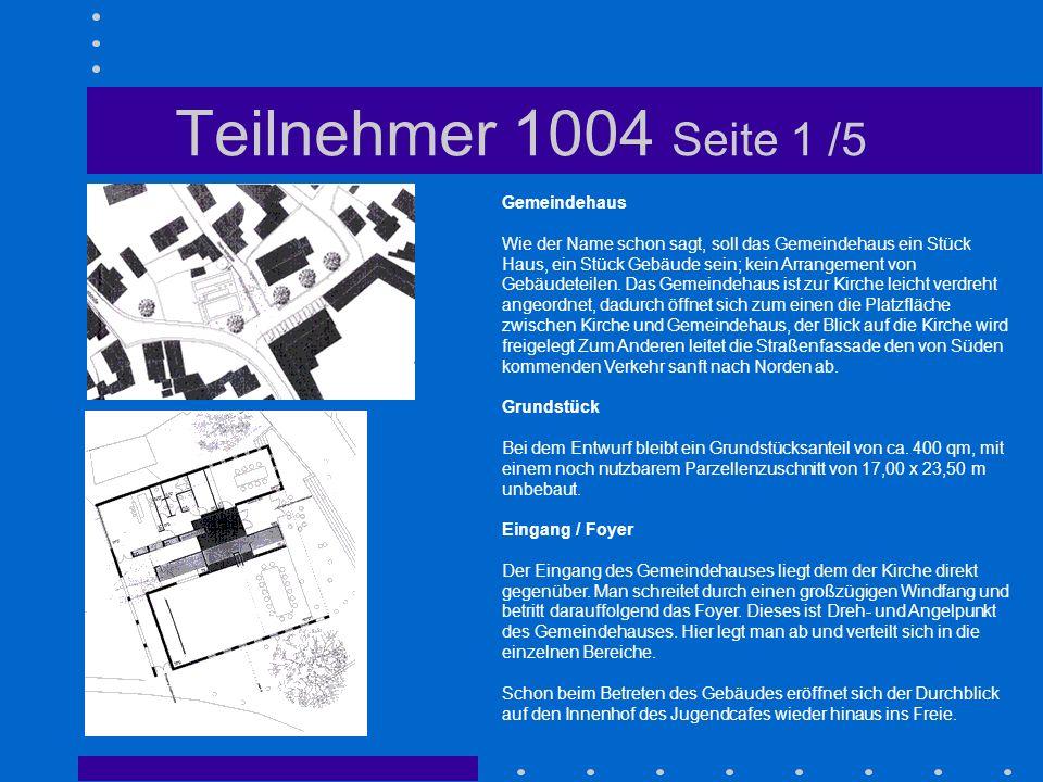 Teilnehmer 1004 Seite 1 /5 Gemeindehaus