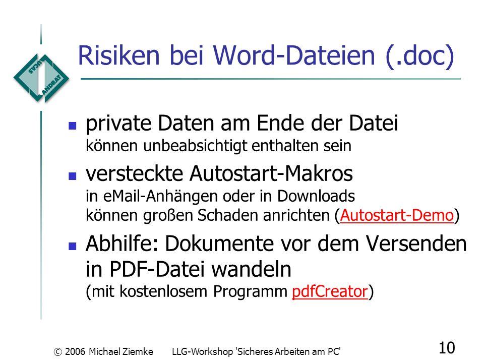 Risiken bei Word-Dateien (.doc)