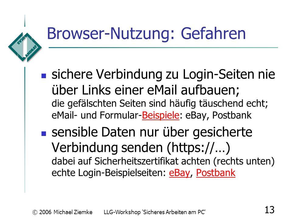 Browser-Nutzung: Gefahren