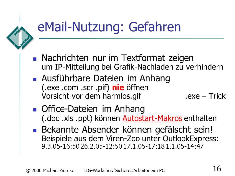 eMail-Nutzung: Gefahren