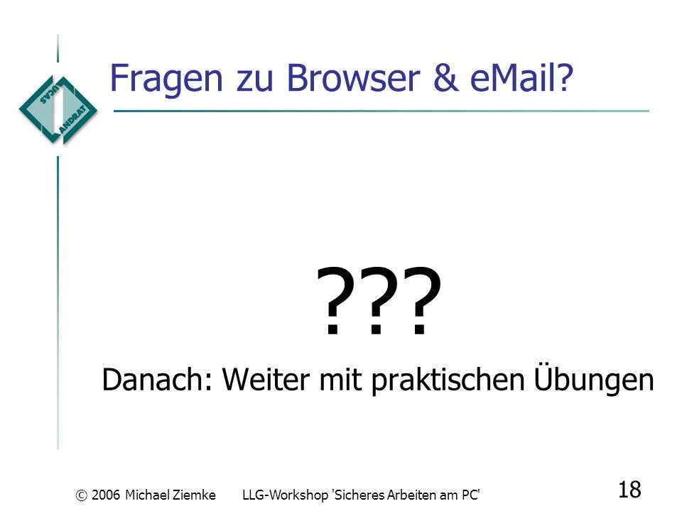 Fragen zu Browser & eMail