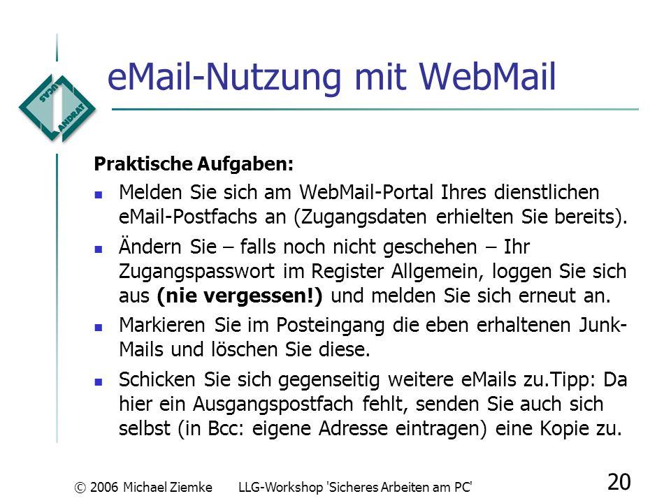 eMail-Nutzung mit WebMail