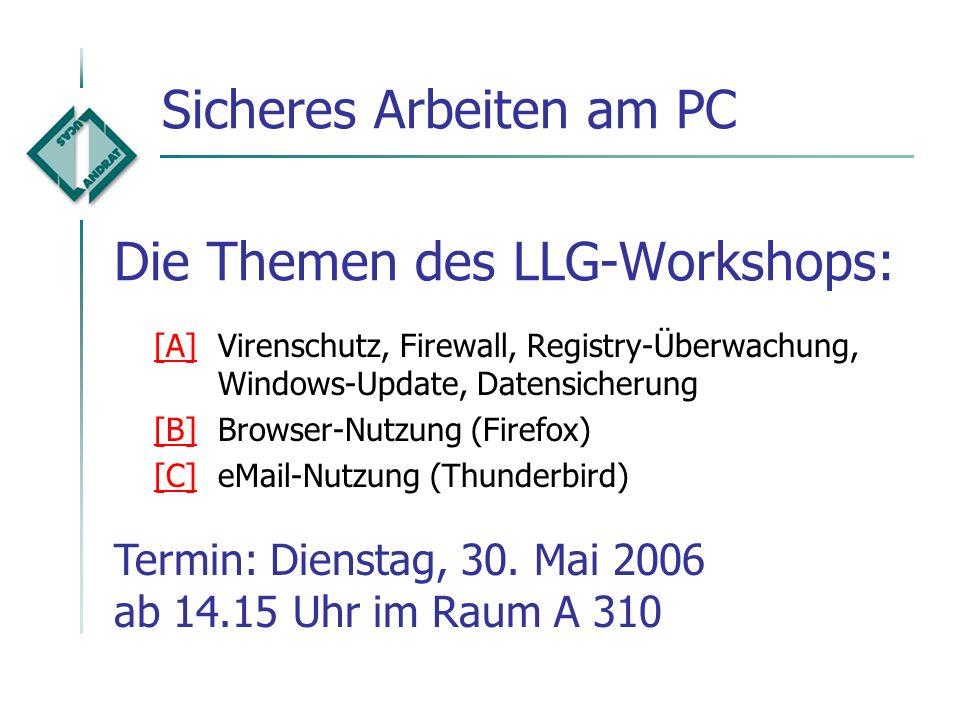 Die Themen des LLG-Workshops: