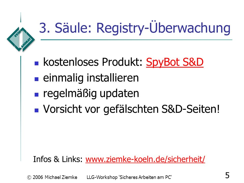 3. Säule: Registry-Überwachung