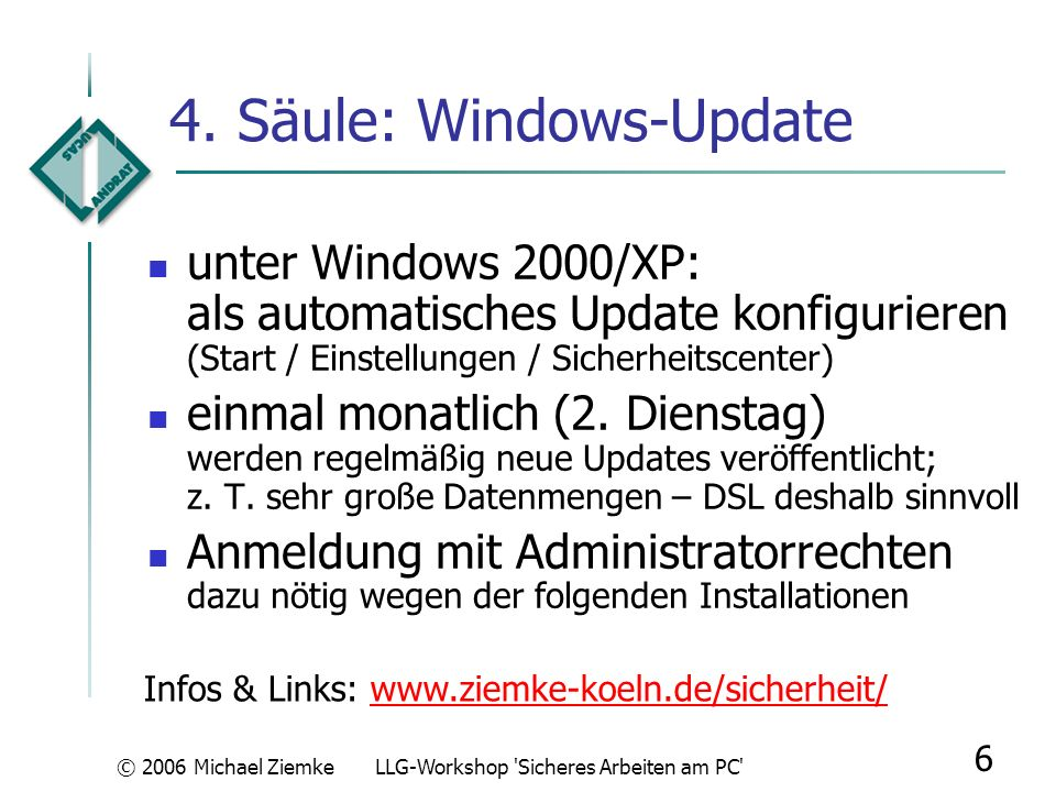 4. Säule: Windows-Update