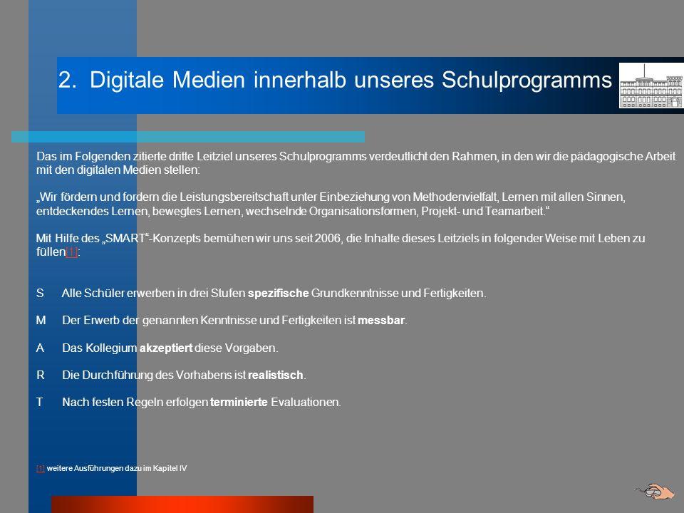 2. Digitale Medien innerhalb unseres Schulprogramms