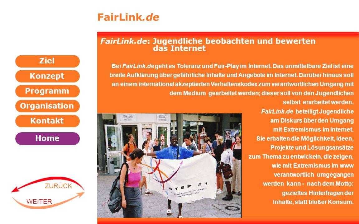 FairLink.de FairLink.de: Jugendliche beobachten und bewerten das Internet.