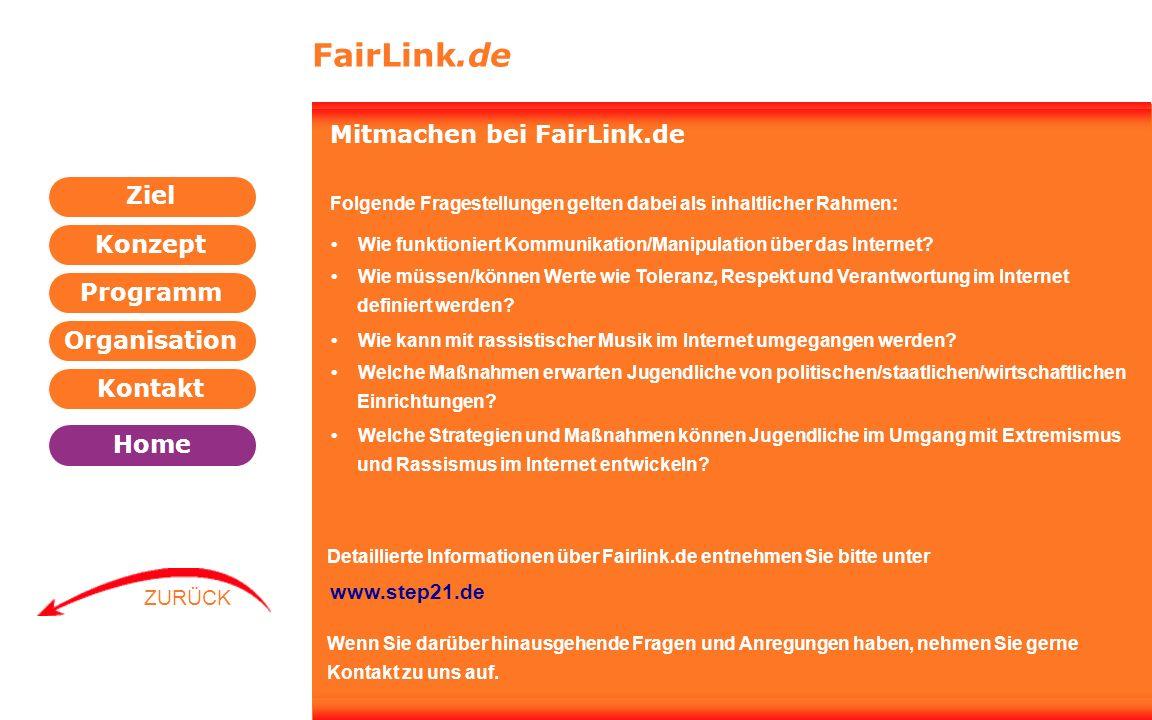FairLink.de Mitmachen bei FairLink.de www.step21.de