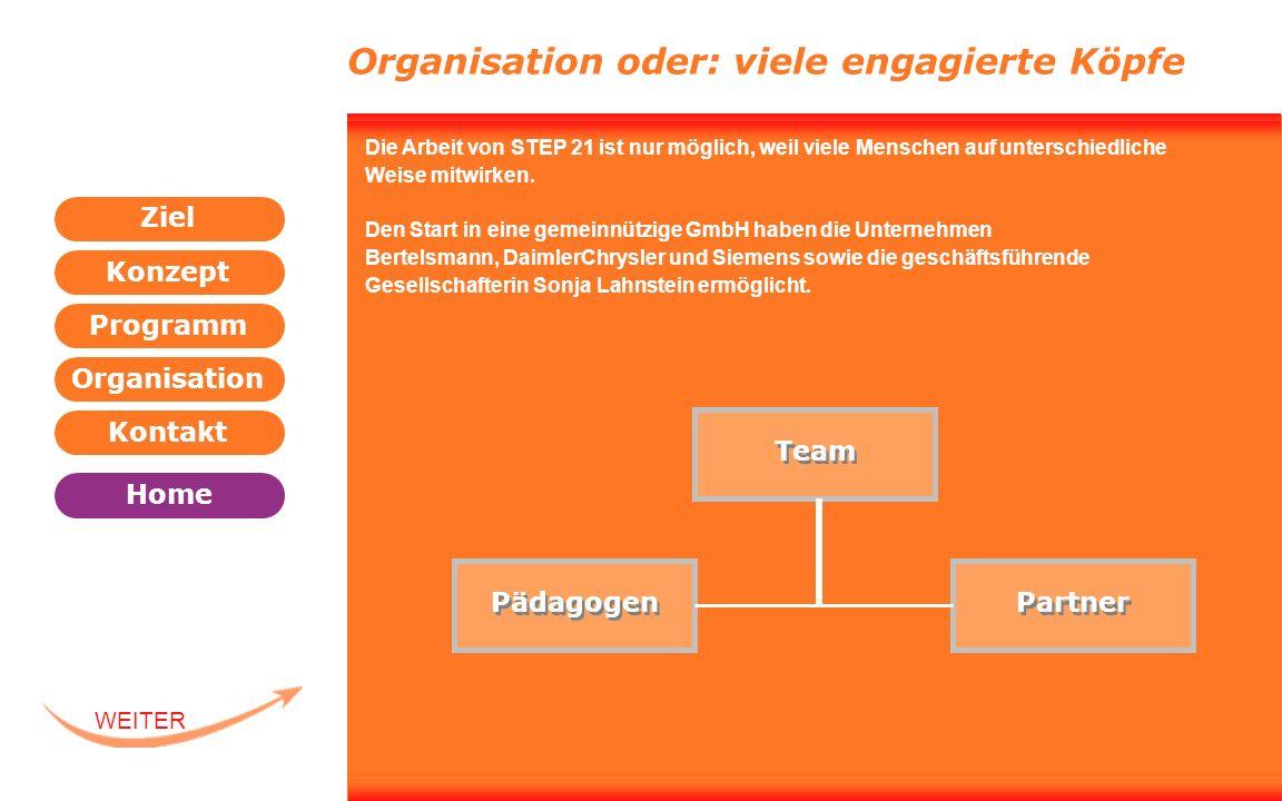 Organisation oder: viele engagierte Köpfe