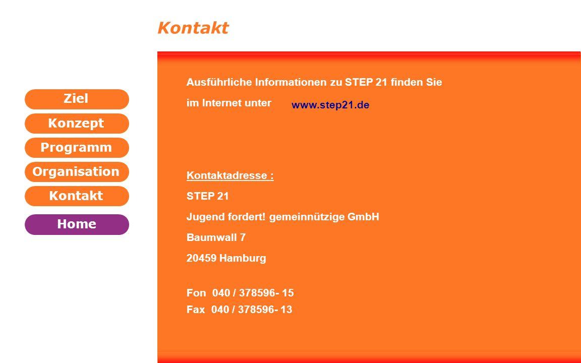 Kontakt Ausführliche Informationen zu STEP 21 finden Sie