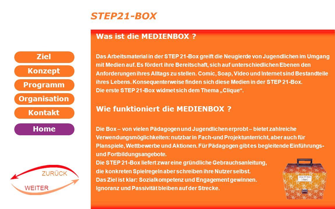STEP21-BOX Was ist die MEDIENBOX Wie funktioniert die MEDIENBOX