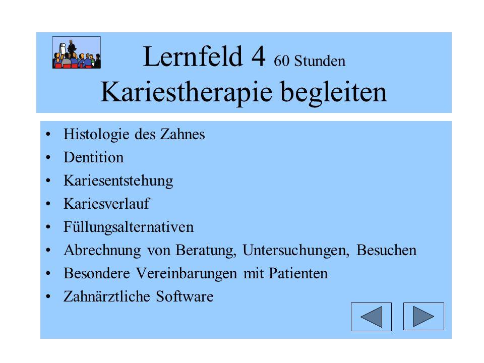 Lernfeld 4 60 Stunden Kariestherapie begleiten