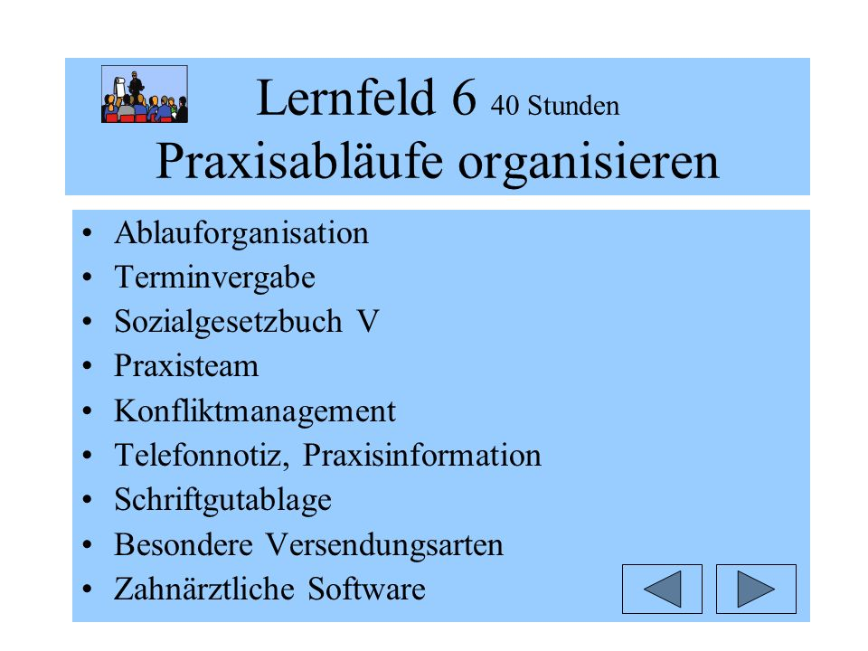 Lernfeld 6 40 Stunden Praxisabläufe organisieren