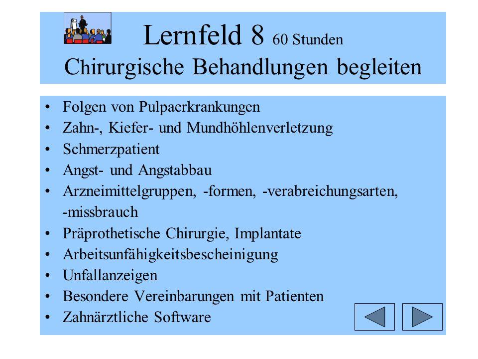 Lernfeld 8 60 Stunden Chirurgische Behandlungen begleiten