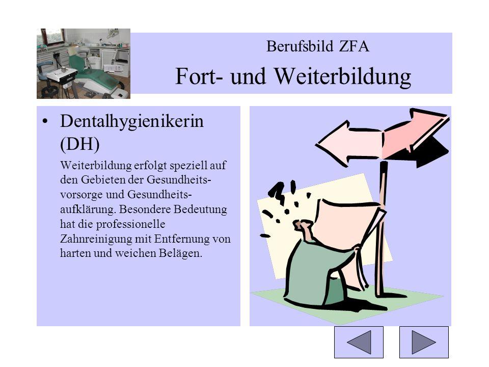Berufsbild ZFA Fort- und Weiterbildung