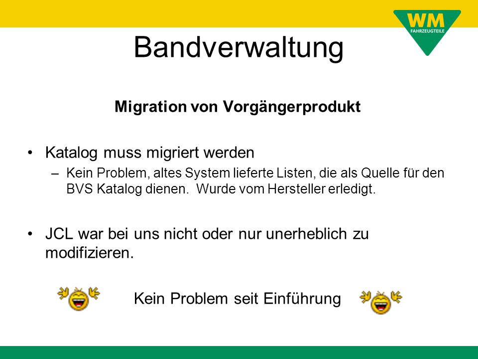 Migration von Vorgängerprodukt