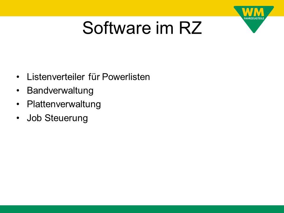 Software im RZ Listenverteiler für Powerlisten Bandverwaltung