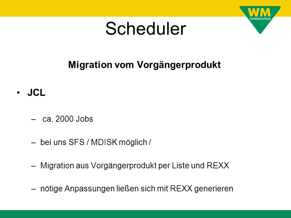Migration vom Vorgängerprodukt