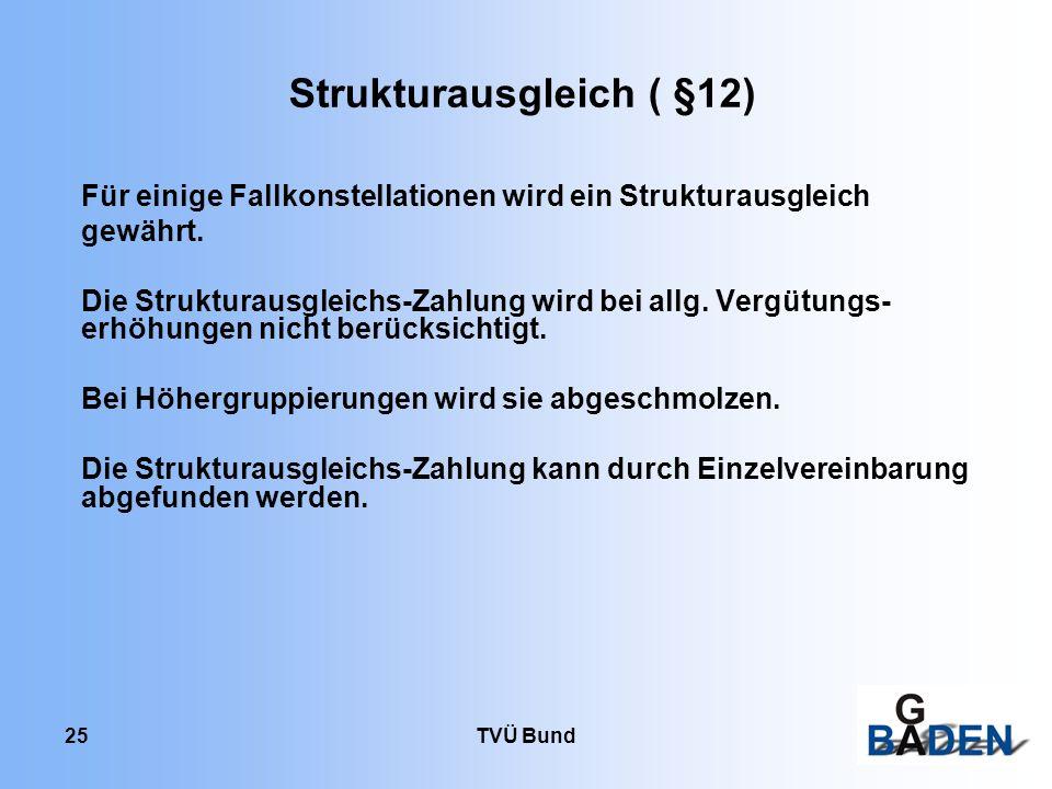 Strukturausgleich ( §12)