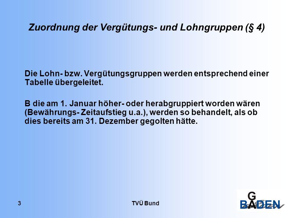 Zuordnung der Vergütungs- und Lohngruppen (§ 4)
