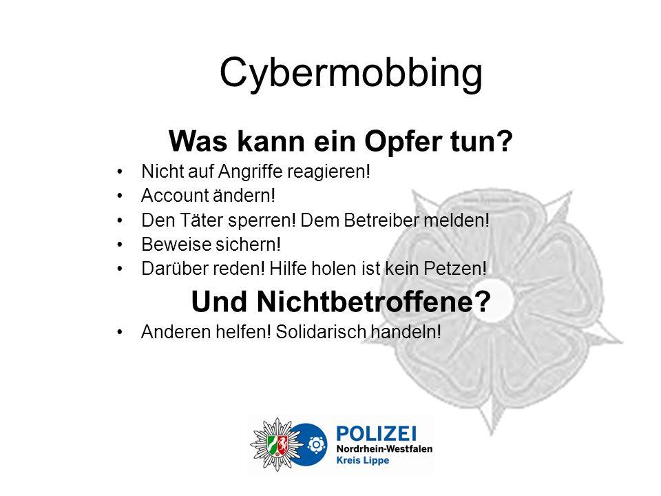Cybermobbing Was kann ein Opfer tun Und Nichtbetroffene