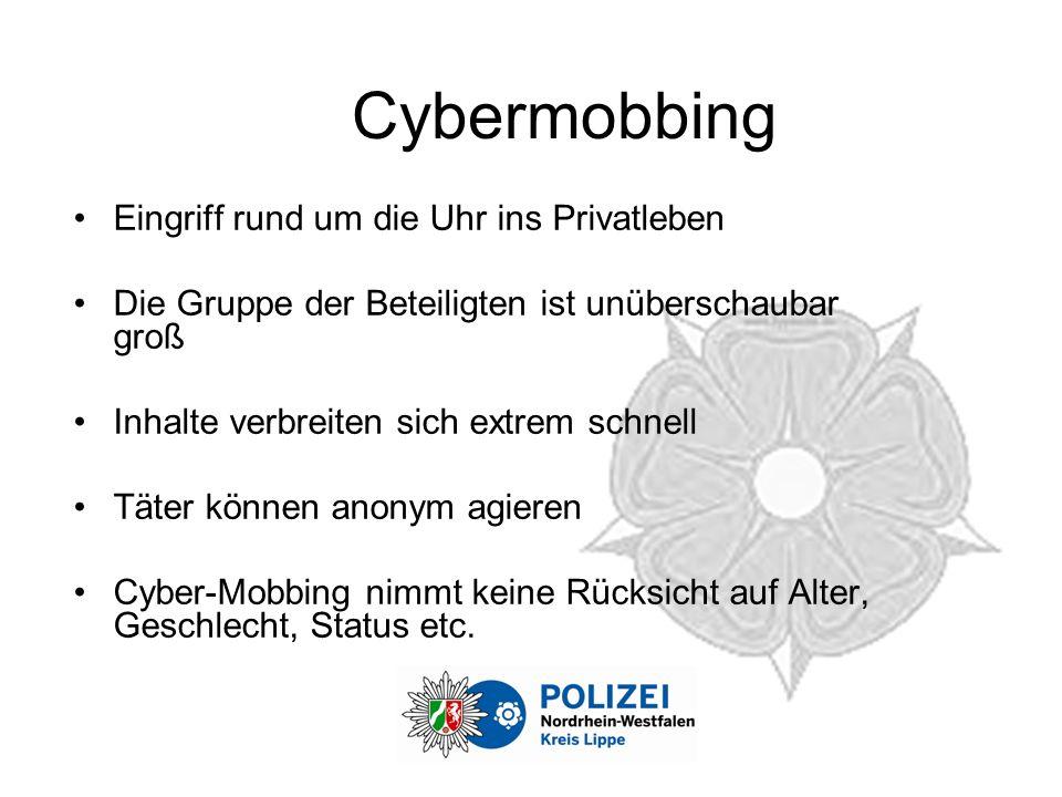Cybermobbing Eingriff rund um die Uhr ins Privatleben