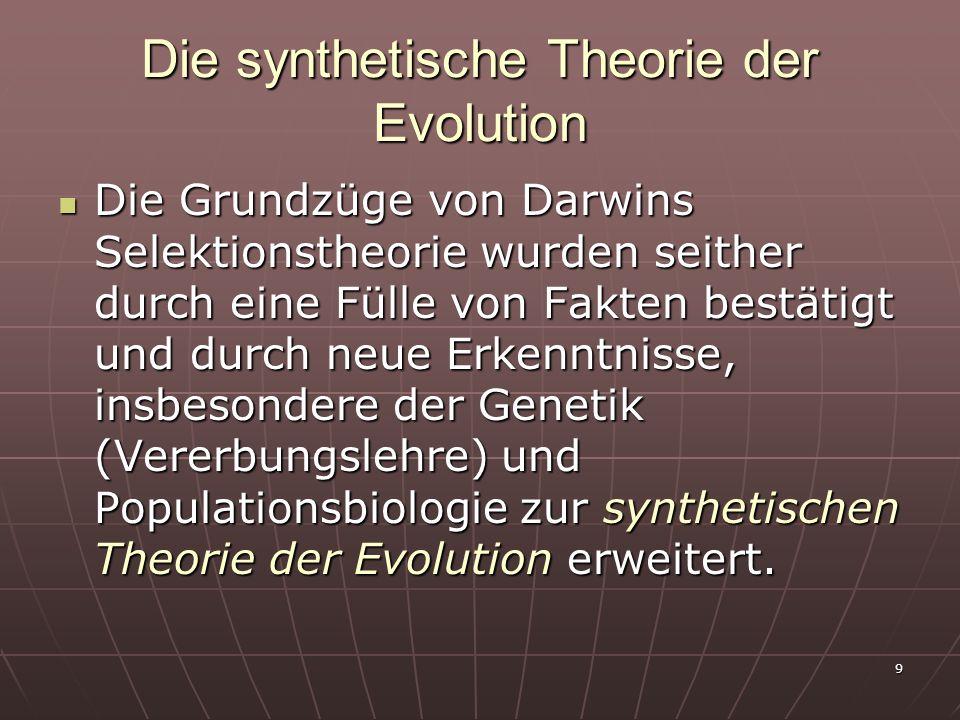 Die synthetische Theorie der Evolution