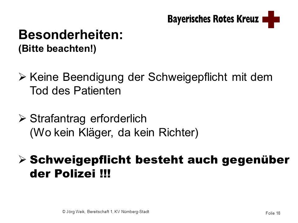 © Jörg Weik, Bereitschaft 1, KV Nürnberg-Stadt