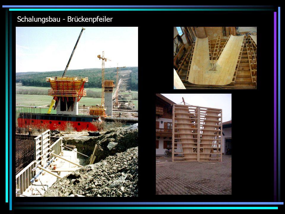 Schalungsbau - Brückenpfeiler